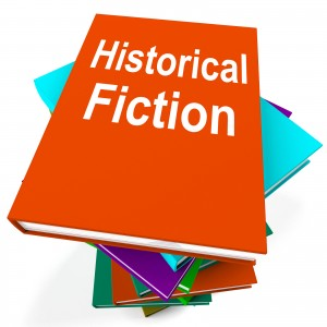 Historical Fiction Book Stack Means Books From History